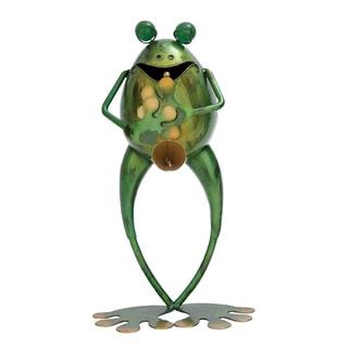 Metal Musician Frog Statue