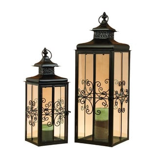 2-Piece Metal Candle Lantern Set