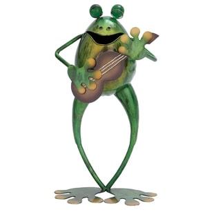 Metal Guitarist Frog Statue