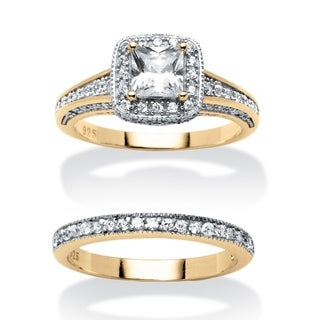 Ultimate CZ 2 1/6ct TGW Cubic Zirconia 2-piece Set