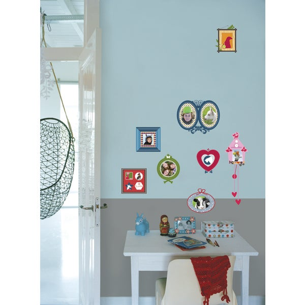 Kids Lab Colorful Photo Frames Wall Decals