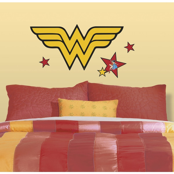 Classic DC Wonder Woman Logo Peel and Stick Giant Wall Decals