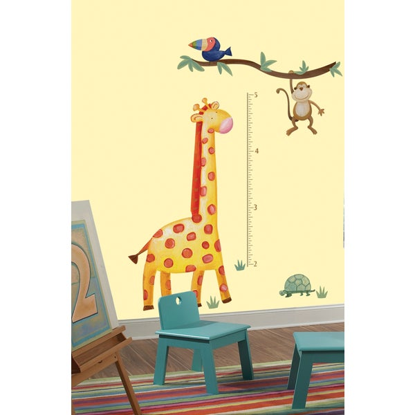 Jungle Adventure Giraffe Peel & Stick Growth Chart