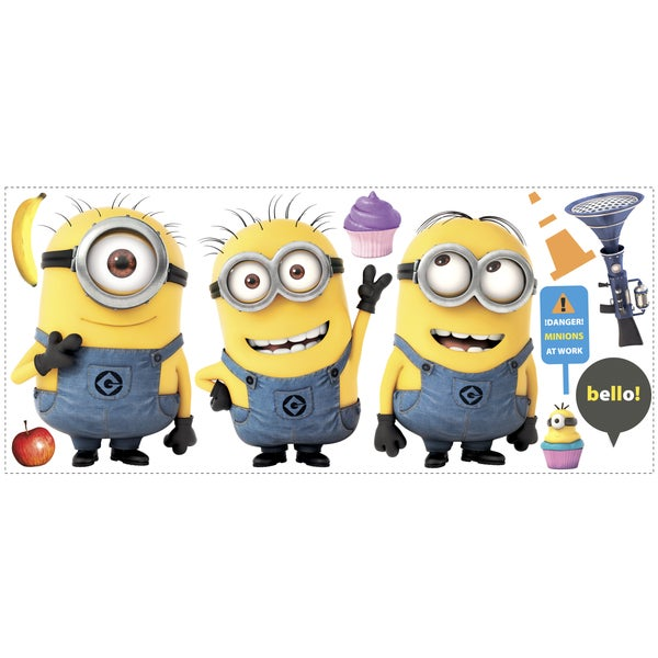 Despicable Me 2 Minions Giant Peel and Stick Giant Wall Decals 12127688