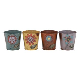 Metal Flower Pots (Set of 4)