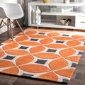 nuLOOM Handmade Modern Disco Orange Rug (5' x 8')
