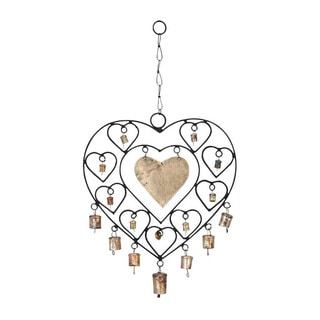 Metal Hearts Wind Chime
