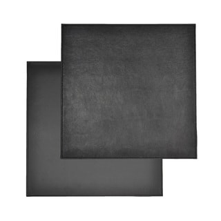 Reversible Faux Leather Snakeskin Black Placemats (Set of 2)