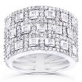 Annello 14k White Gold 1ct TDW Diamond Ladies Diamond Band (H-I, I1-I2)
