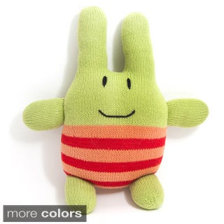 Hand-Knit Crazy Stuffed Bunny Toy (Peru)