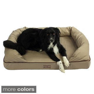 Washable 46-inch Orthopedic 3D Memory Foam Large Couch Pet Dog Bed