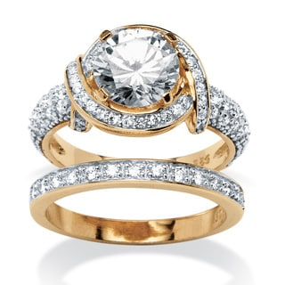 Ultimate CZ 3.26 TCW Cubic Zirconia 2-piece Ring Set