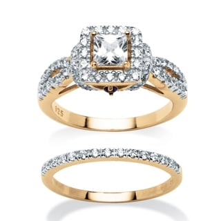 Ultimate CZ 1.28 TCW Cubic Zirconia 2-piece Ring Set