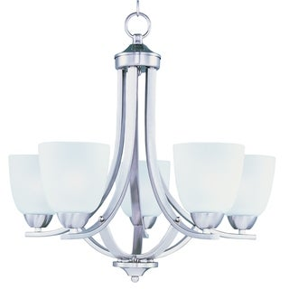 Axis 5-light Brushed Nickel Chandelier