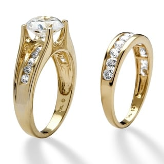Ultimate CZ 3.08 TCW Cubic Zirconia 2-piece Ring Set