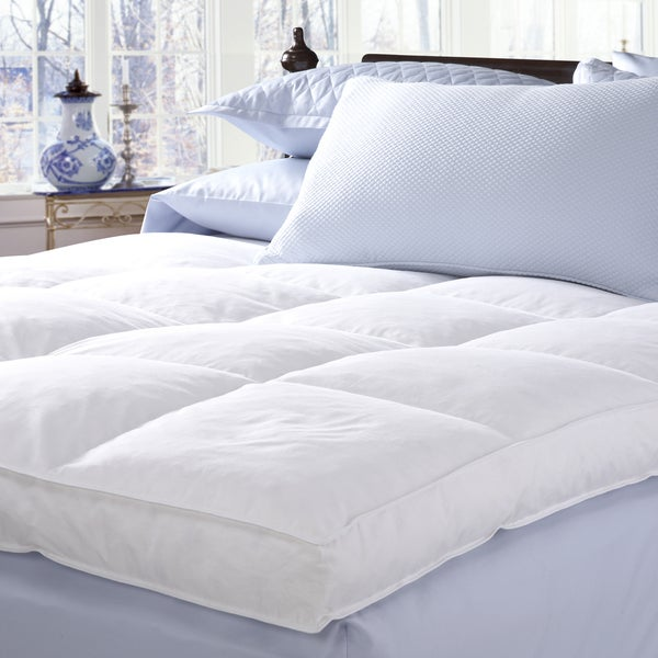 Famous Maker 230 Thread Count White Goose Featherbed