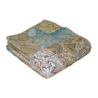 Vintage Paisley Patchwork Quilted Throw