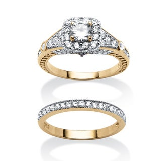 Ultimate CZ 2.21 TCW Cubic Zirconia 2-piece Ring Set