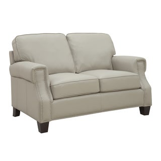 At Home Designs Uptown Bone Leather Loveseat