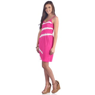 Ingear Juniors Neon Pink Tie Dye Striped Dress (One Size)