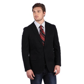 Calvin Klein Men's Black Slim Fit Corduroy Blazer