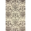 nuLOOM Transitional Damask Microfiber Brown Rug (7'6 x 9'6)