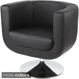 Modern Leatherette Chrome Base Arm Chair