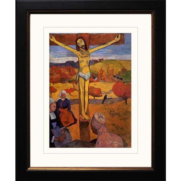 Paul Gauguin 'The yellow Christ' Giclee Framed