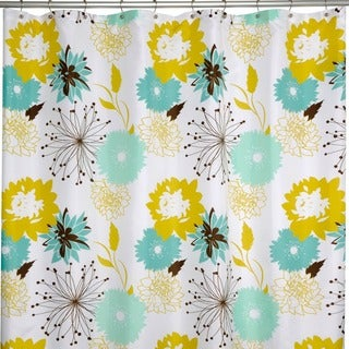 Palma Modern Floral Shower Curtain
