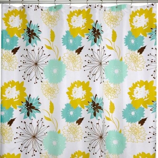 Palma Modern Floral Shower Curtain