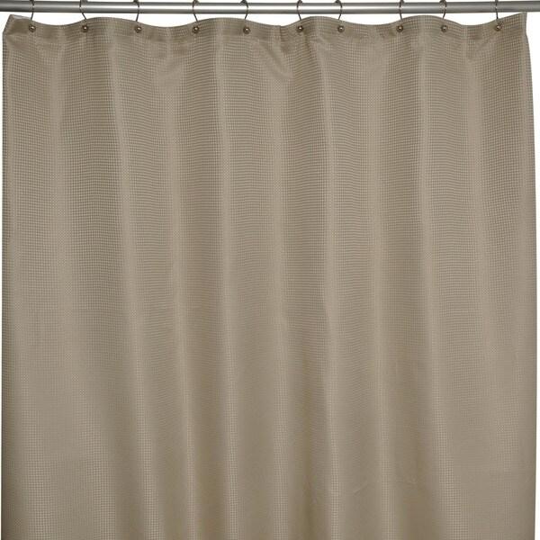 Soho Waffle Taupe Shower Curtain Overstock