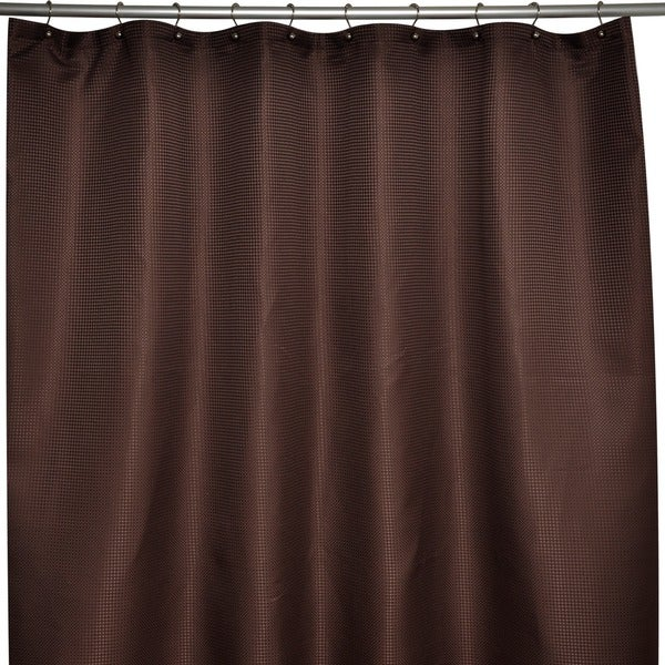 Soho Waffle Brown Shower Curtain
