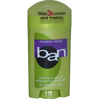 Ban Shower Fresh Invisible Solid Antiperspirant 2.6-ounce Deodorant