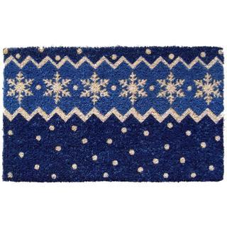Snow Pattern Hand-woven Coconut Fiber Doormat