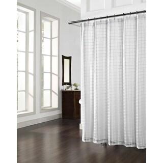 Cube White Shower Curtain