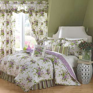 Waverly Sweet Violets 4-piece Quilt Set