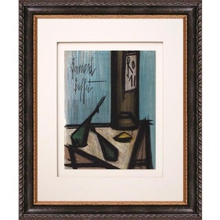 Bernard Buffet 'Still Life with a Bottle' Original Lithograph