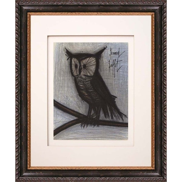 Bernard Buffet 'The Little Owl' Original Lithograph