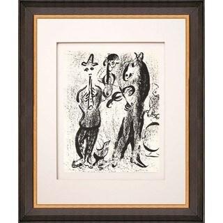 "Marc Chagall ""The Mountebanks"" Original Lithograph"