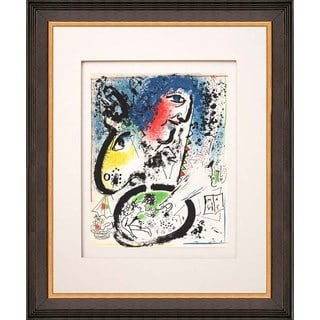 Marc Chagall 'Auto Portrait' Framed Original Lithograph
