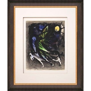 Marc Chagall 'L'ange' Original Lithograph Framed Art