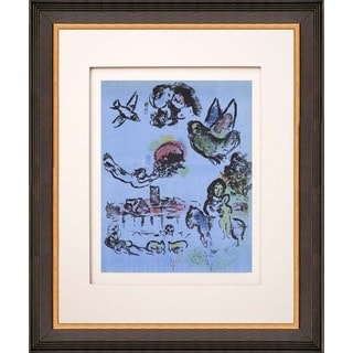 Marc Chagall 'Nocturne at Vence' Original Lithograph