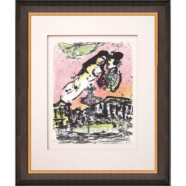 Marc Chagall 'The Lovers Heaven' Original Lithograph