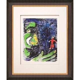 Marc Chagall 'Le profile et l'enfant rouge' Original Lithograph