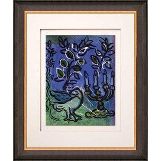 Marc Chagall 'Candlestick' Original Lithograph Framed Art
