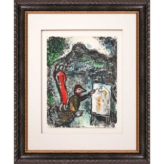 Marc Chagall 'Near St Jeannet' Original Lithograph Framed Art