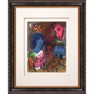 Marc Chagall 'Untitled, Homage to Chagall' Original Lithograph Framed Art