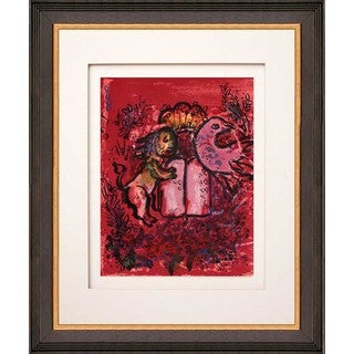 Marc Chagall 'Frontispice' Original Lithograph Framed Art