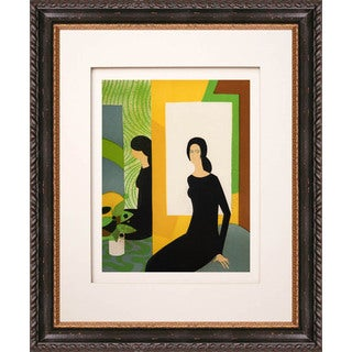 Andre Minaux 'Jeu de miroir' Original Lithograph
