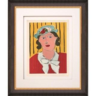 Henri Matisse 'Femme au Chapeau' Lithograph Framed